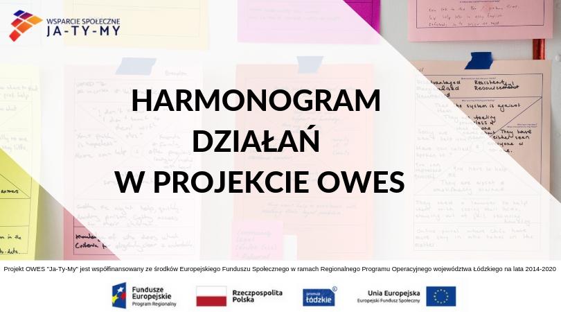 HARMONOGRAM DZIAŁAŃ W PROJEKCIE OWES